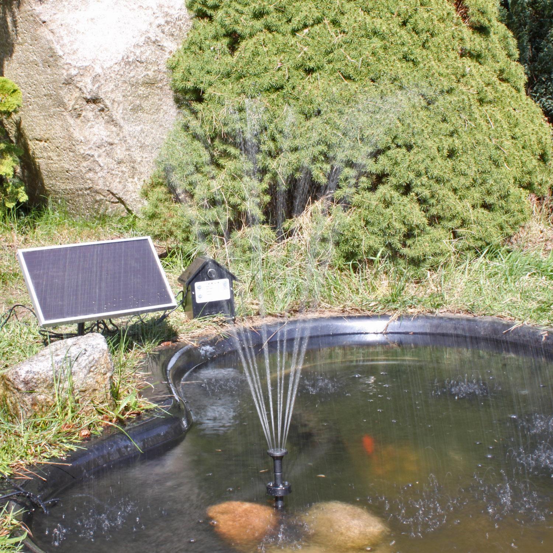 solar pumpe solarpumpe f r teich teichpumpe bunter. Black Bedroom Furniture Sets. Home Design Ideas