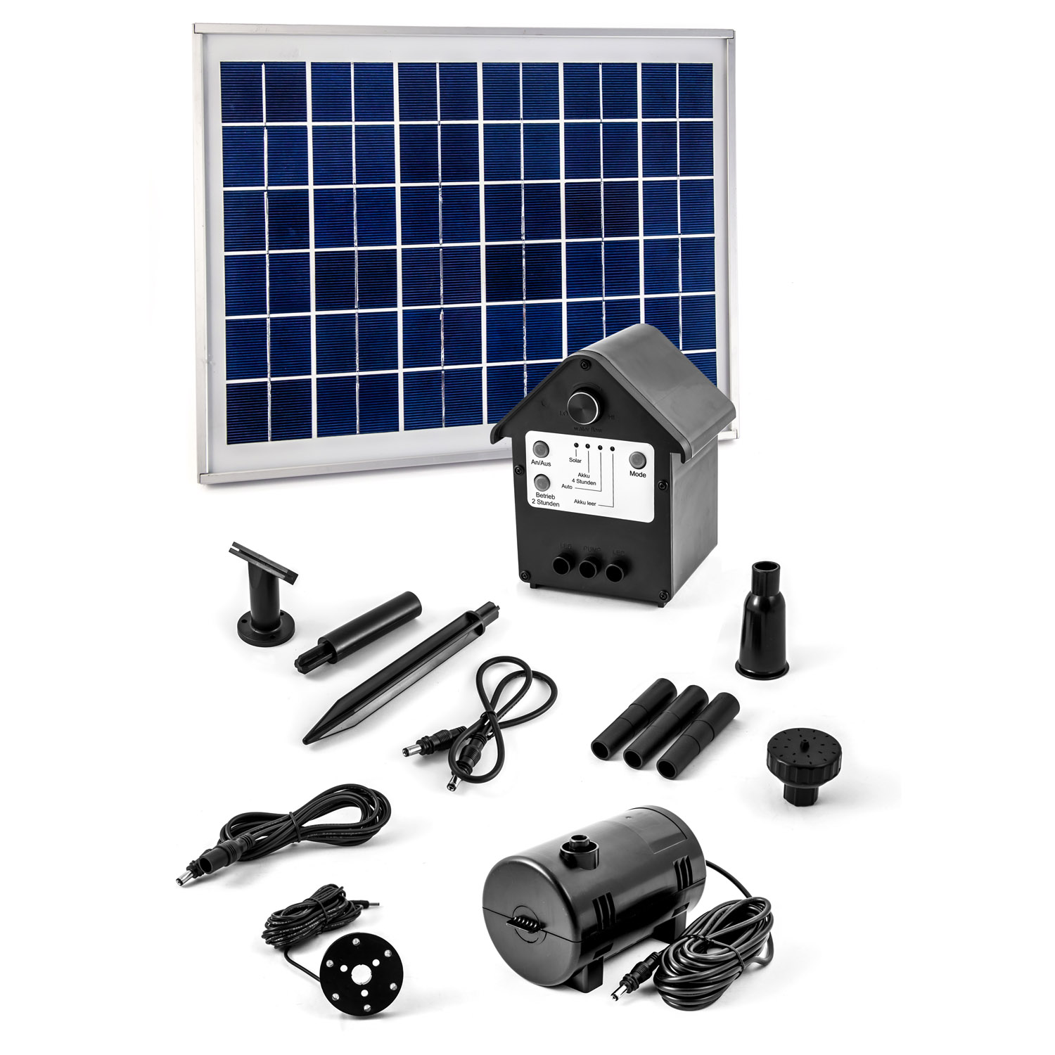 solarpumpe solar teichpumpe pumpe mit akku led solarteichpumpe springbrunnen ebay. Black Bedroom Furniture Sets. Home Design Ideas