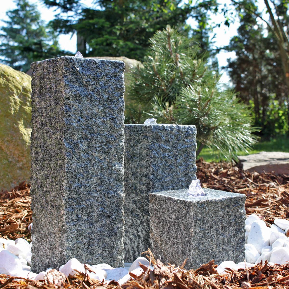 wasserspiel garten granit – actof, Terrassen ideen