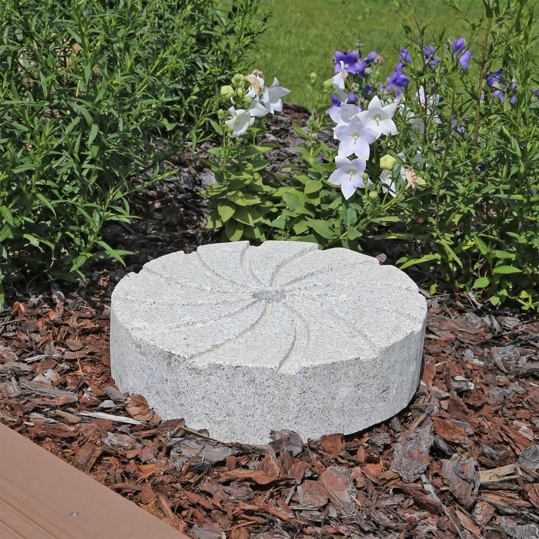 Granit Mühlstein für Brunnen Garten Deko Mühlenstein Naturstein | eBay