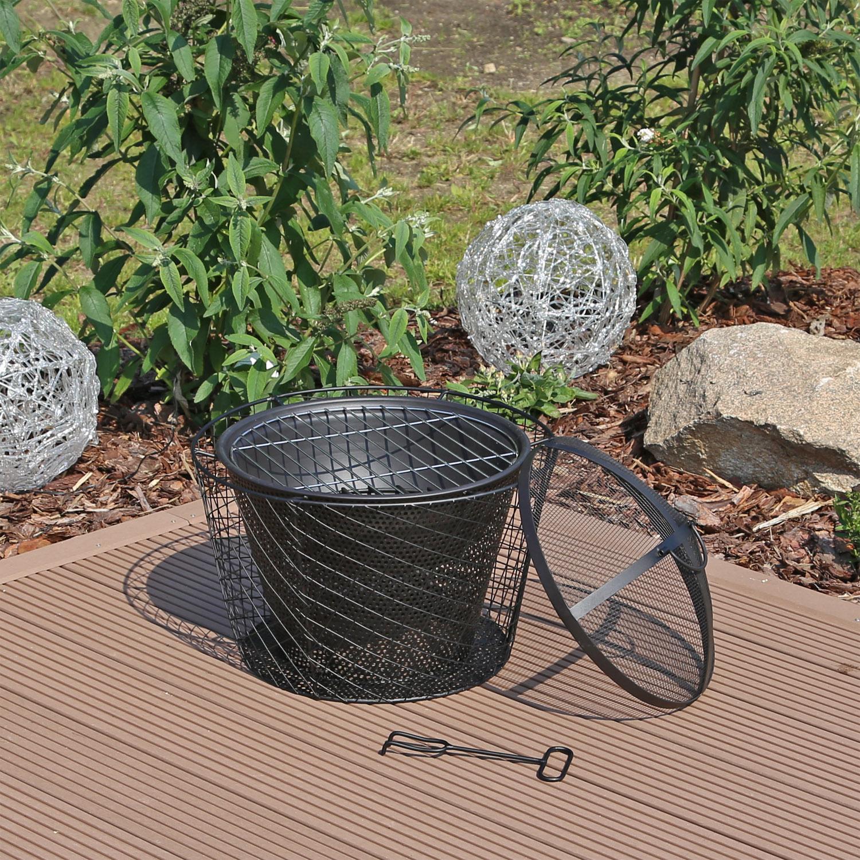 gabione feuerkorb feuerschale grill gartengrill steingrill grillstelle garten ebay. Black Bedroom Furniture Sets. Home Design Ideas