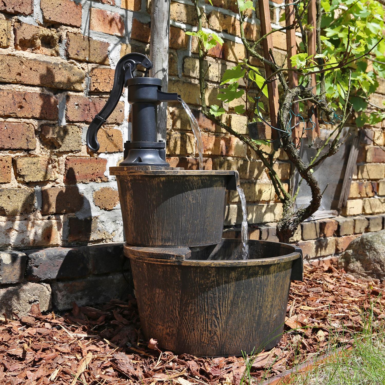 springbrunnen f r garten oder teich kaskaden wasserfall wasserspiel zierbrunnen ebay. Black Bedroom Furniture Sets. Home Design Ideas