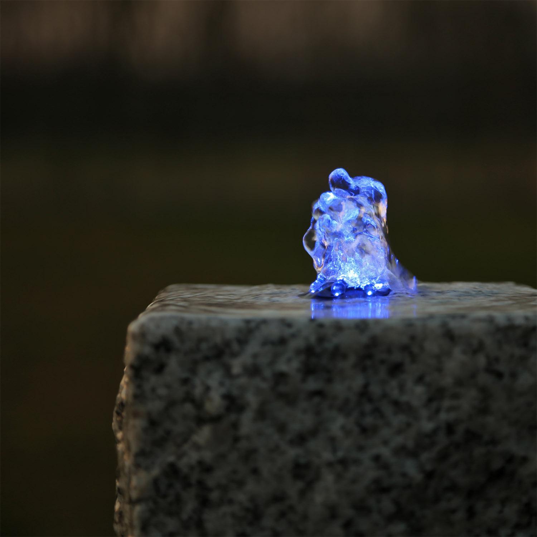led ring beleuchtung blau f r springbrunnen quellstein set springbrunnenpumpe ebay. Black Bedroom Furniture Sets. Home Design Ideas