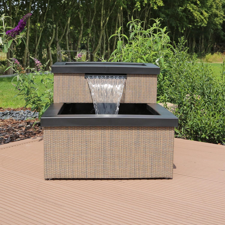 miniteich set terrassenteich balkonteich mit wasserfall. Black Bedroom Furniture Sets. Home Design Ideas